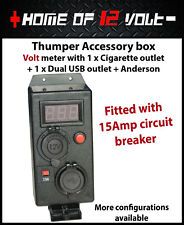 Thumper accessory box Volt Cigarette Dual USB + Anderson AUX battery gauge 12V
