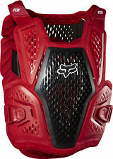 Fox Racing Mens Flame Red/Black Raceframe Dirt Bike Roost Guard Deflector MX ATV