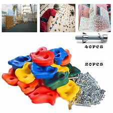 20Pcs Colorful Kids Climbing Holds with 40 Expansion Screws, Climbing Wall Grips