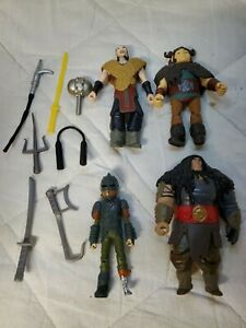 How To Train Your Dragon Action Figures Lot of 4 with weapons