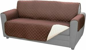 Couch Coat Reversible Microfiber Couch Cover by BulbHead - NEW- Brown & Tan