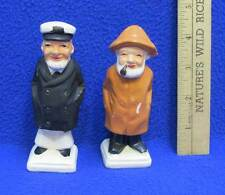 Salt and Pepper Shakers Fishermen Sea Captains Salty Dogs Vintage Pair Set of 2