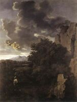 Poussin Oil Painting repro Hagar and the Angel