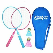 New listing KH 2 Player Badminton Rackets Set for Adults Blue/Red(Mini Oval Racket Set)