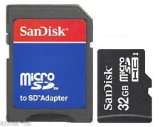 SanDisk 32GB MicroSD Micro SDHC Class 4 Memory Card with SD Adapter