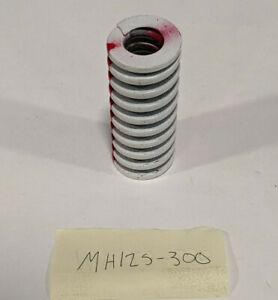 "Dayton 1-1/4"" x 3"" Red-Striped Medium Heavy Pressure Die Springs #MH125-300"