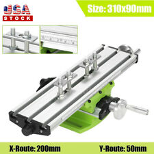 Milling Machine Work Table Compound Cross Slide Bench Drill Press Vise Fixture