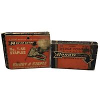 """Pair of Vintage Arrow Staples ⅜"""" No. T-150 & Wedge Point ⅜"""" No. T-50 ManCave"""
