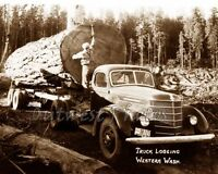 PHOTO LOG LOGGER LOGGING TRUCK FROM WESTERN WASHINGTON WA
