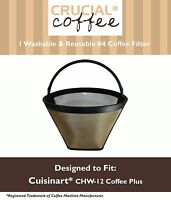 REPL Cuisinart CHW-12 Coffee Plus 12-Cup Coffee Maker Washable Filter Large