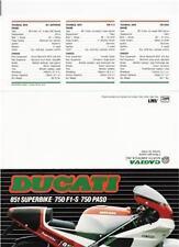 1989 Ducati 851 / F-1S / Paso original sales brochure