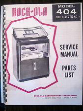 Rock-ola Model 404 Service & Parts Jukebox Manual
