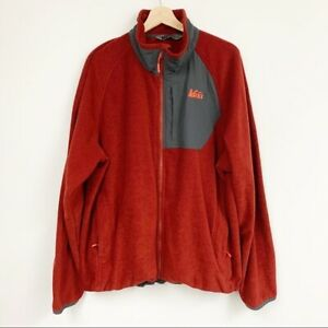 REI Polartec burgundy Red Fleece zip Jacket  XXL