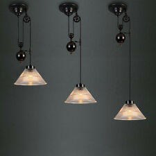 Industrial Retro Retractable Pulley Lamp Hanging Ceiling Light Pendant