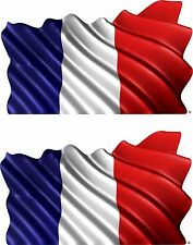 2-Set France  Vehicle Flag Trailer Boat Car Wall Art Truck Sticker Decals Wrap