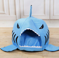 Shark Mouth Pet Dog Cat Bed House Doggy Puppy Warm Bed Kennel Cushion Pad Cute