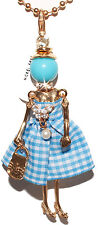 MANUEL ZED ZOPPINI COLLANA BAMBOLA CELESTE DOLLY PORTACHIAVE NECKLACE KEYRING