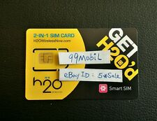 H2O Wireless Regular/Micro Sim Card Free 1St Month $30 Plan Preloaded Prefunded