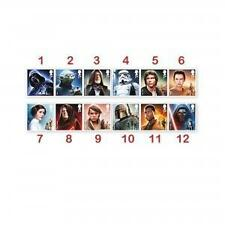 STAR WARS STAMP COLLECTION SET OF 12 MINT STAMPS - ROYAL MAIL