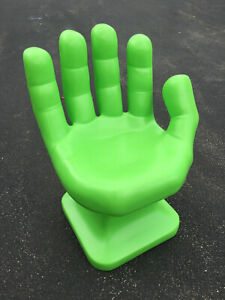 """GIANT Neon/Lime Green right HAND SHAPED CHAIR 32"""" 70's Retro EAMES iCarly NEW"""