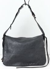 BALENCIAGA Flap Shoulder Bag Handbag Dark Gray Anthracite Chevre Leather
