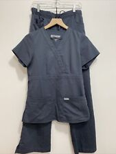 Grey's Anatomy Professional Wear By Barco Gray Scrubs 2 Piece Womens Small Comfy