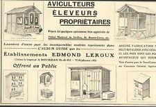 91 DOURDAN PUBLICITE ETS EDMOND LEROUX MATERIEL BASSES-COURS 1913