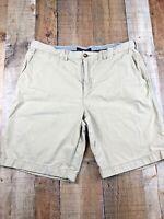 Tommy Hilfiger Flat Front Brown Men's Cotton Shorts Size 38