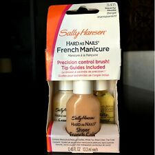 SALLY HANSEN* 4pc French as Manicure #3411 NEARLY NUDE Complete Kit SHEER UV New