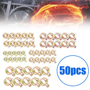 50Pcs Spring Clip Fuel Water Pipe Line Hose Air Tube Clamps Fastener 5/6/7/8/9mm