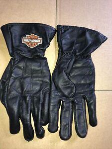 HARLEY DAVIDSON Leather GAUNTLET Gloves XL  Excellent Condition
