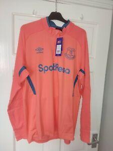 Everton football half zip top bnwt size XL men's