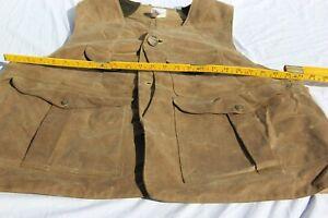 Filson hunting vest, waxed ,lots pockets