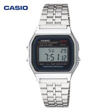 Men's Casio Digital Classic Steel Band Watch A159WA-N1 Adjustable Clasp WR