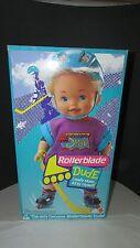 "1992  Mattel 15"" boy doll Rollerblade Dude New in original box  helmet hockey"
