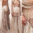 Sexy Long Boho Maxi Evening Party Dress Chiffon Dress Women Summer Beach WN