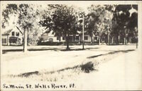 Wells River VT South Main St. c1910 Real Photo Postcard