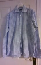 pierre cardin size 16.5 collar long sleeve shirt white and blue