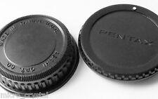 Original Pentax Asahi camera body and rear lens cap lid cover Objektivdeckel x2
