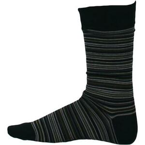 Cole Haan Mens Green Striped Crew Business Dress Socks 7-12 BHFO 4478