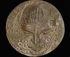 RARISSIME MÉDAILLE EN BRONZE de PIERRE BOULEZ par HENRI-GEORGES ADAM , EE /175