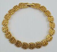 Napier Gold Tone Leaf Link Bracelet
