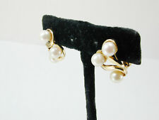2910 CLIP-0N PEARL EARRINGS 14k Solid Yellow Gold & Pink Pearls Non Pierced Ears
