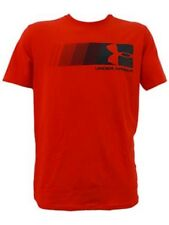 Under Armour * UA Fast Left Chest Logo Red T Shirt Charged Cotton Heatgear Men