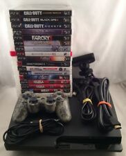 Huge Sony Playstation 3 PS3 160GB Slim Bundle LOT 17 Games & Controller EYE COD