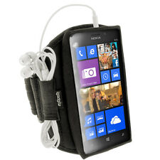 Black Sports Armband for Nokia Lumia 925 Windows Smartphone Gym Running Jogging