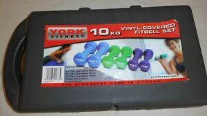 York Fitness 10kg Vinyl Fitbell Set (1678)