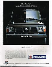 Publicité Advertising 1991 Nissan patrol GR