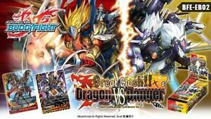 Future Card Buddyfight BFE-EB02 Great Clash Dragon VS Danger Booster Box