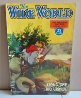 The Wide World Magazine Magazine For Men - AUGUST 1934 - Along the Rio Grande